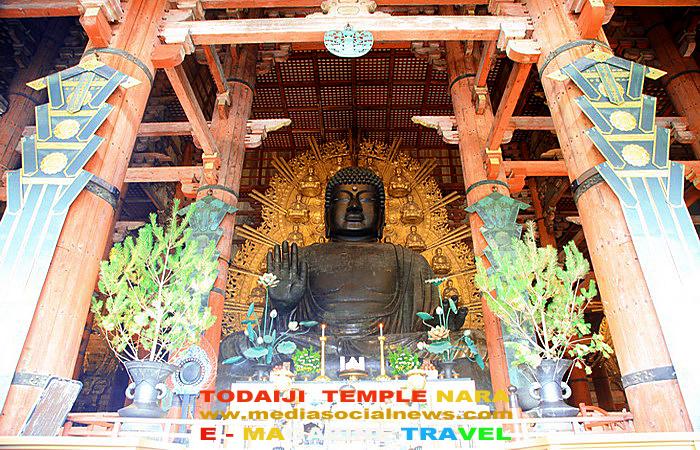 เมืองนารา(Nara)ประเทศญี่ปุ่น( japan)วัดโทไดจิ (Todaiji) ใบไม้เปลี่ยนสี